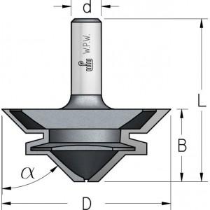 Фреза для кутового та прямого зрощування D67 В30 d12 Z2 FJ40002
