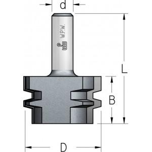 Фреза для прямого зрощування D47 В28 d12 Z2 FJ20002
