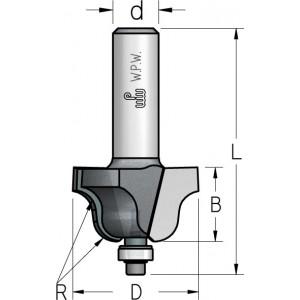Фреза профільна кальовочна, нижній підшипник D25 R4 В16 d6 HRD0403