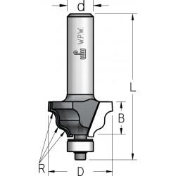 Фрези профільні кальовочні з нижнім підшипником серії HRJ