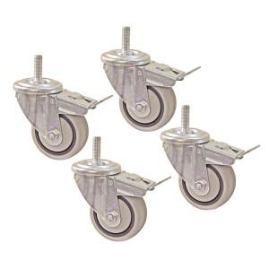 Комплект (4 шт) поворотних роликів з гальмом