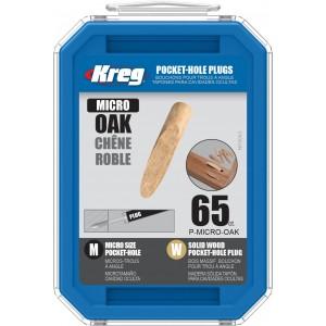 Заглушка дерев'яна для Micro-Pocket (дуб) 65 шт.