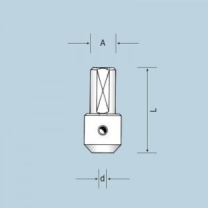 Адаптер для тонких сверл d2) 01802003700