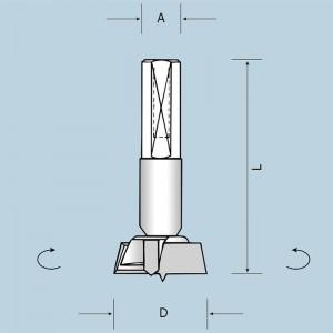 Чашечне свердло D14 L57,5 A10x26 LH 04201405722
