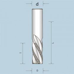 Фрези спіральні чотиризубі з подрібнювачем