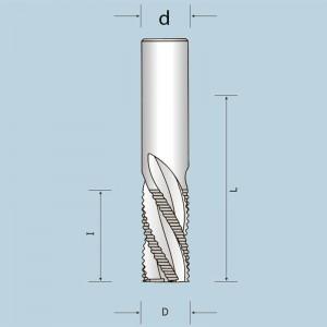 Спіральна фреза Z4 з подрібнювачем, викид стружки вниз D10 I32 d10 13410003221N