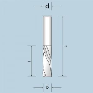 Спіральна фреза Z2 з викидом стружки вниз D12 I32 d12 12012003221N