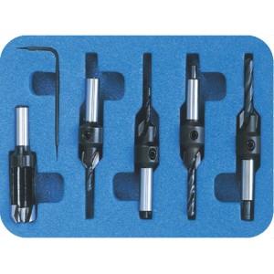 Комплект из 4-х зенковок AC и пробочника MN D сверла3,2÷4,4 D10 d8 PL41005