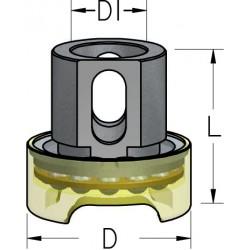 Обмежувачі глибини свердління з металевим кільцем з підшипником для зенківок серій ABB та ALB