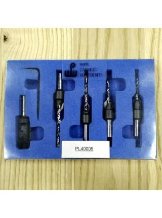 Комплект з 4-х зенківок AC та пробочника MN D сверла3÷5 D10 d8 PL40005