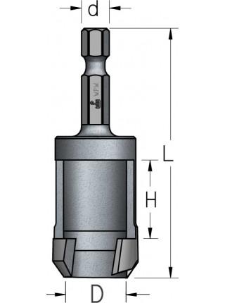 Комбінований комплект зенковок і пробочнік QCS1104 D2,5÷4/9,5 QCS1104