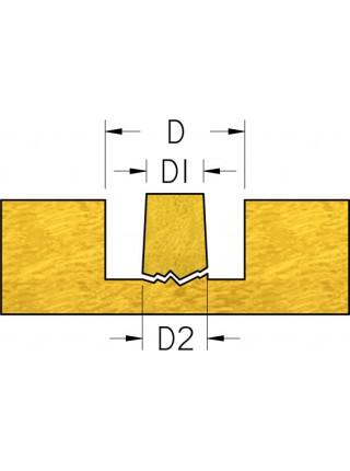 Фреза для виготовлення коничної пробки D₁12 D₂13 d12 MNK1302