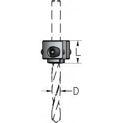 Стопорні кільця зі змінним діаметром для монтажу на корпусі свердла