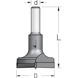 Висвердлювачі з двома ріжучими ножами без підрізних з циліндричним хвостовиком
