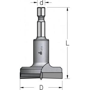 Висвердлювач без підрізачів з шестигранним хвостовиком D15 L55 HMPS154
