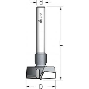 Висвердлювач двозубый з двома підрізачами D15 L85 d10 MP15007