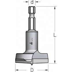 Висвердлювачі з двома ріжучими ножами спеціального дизайну з шестигранним хвостовиком