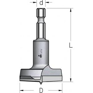 Висвердлювач спеціального дизайну з шестигранним хвостовиком D15 L58 HMPT154