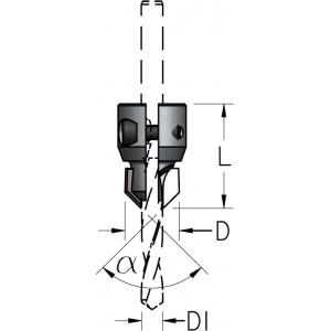 Зенковка сборная для монтажа на корпусе сверла HSS D₁6÷10 D21.5÷25 ACM6010D