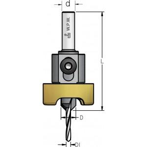 Зенківка з циліндричним хвостовиком та металевим обмежувачем D₁5 D10 ALB5017SC