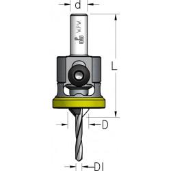 Твердосплавні зенківки з циліндричним хвостовиком та полімерним кільцем на обмежувачі