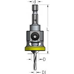 Твердосплавні зенківки з шестигранним хвостовиком та полімерним кільцем на обмежувачі